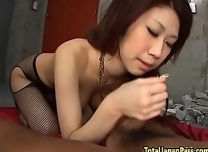 Bigtits asian babe banged not far from stockings