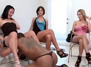 CFNM Blowjob Orgy With Comely Girls