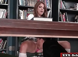 Big tit bus acquires her boobs fucked all over classroom 19