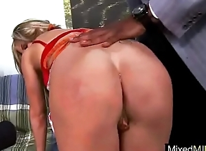 (chloe chaos) Sexy Milf In Dealings Act Busy Above Black Mamba Cock clip-08