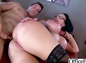 (Sybil Stallone) Big Gut Sluty Office Girl Love Hard Sex clip-29